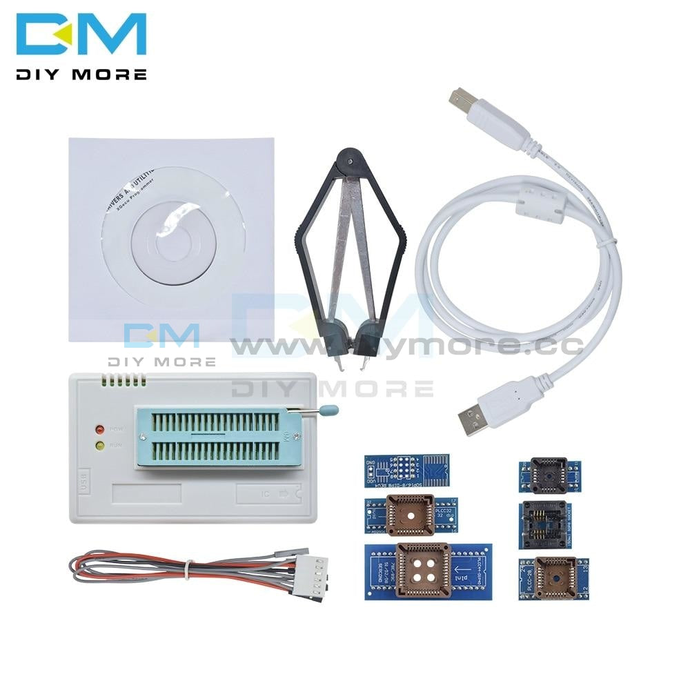 Tl866Ii Plus Programmer Usb Bios Eprom Flash 6 Adapters Socket Extractor Module 13000 Ic Adapter