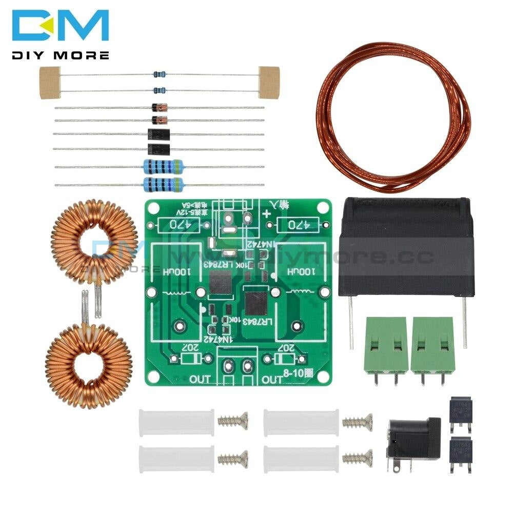 Diy Kits Mini Zvs Tesla High Voltage Generator Coil Frequency Induction Heating Machine Module Board