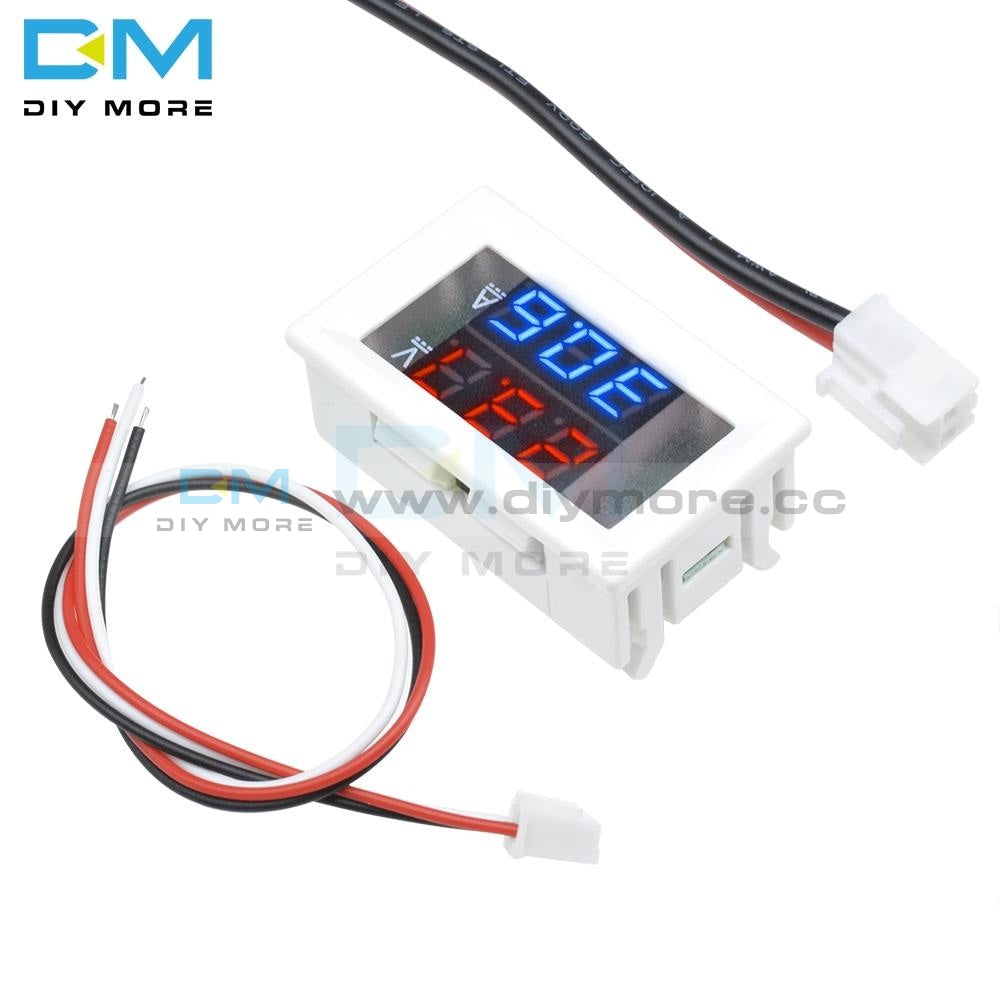 Dc 100V 0.28 Inch Mini Digital Voltmeter Ammeter Panel Amp Volt Current Meter Tester Inch Blue Red