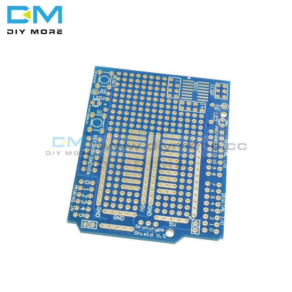 Prototype Pcb For Arduino Uno R3 Shield Board Diy Combo Module 2Mm+2.54Mm Pitch Fr-4 Glass Fiber Kid