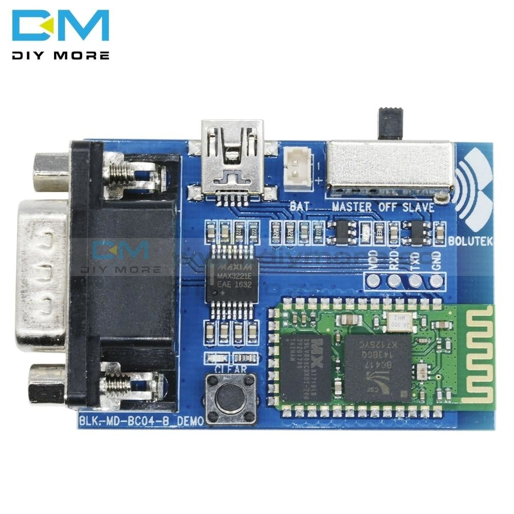 Rs232 Bluetooth Serial Adapter Board Communication Master Slave 2 Modes 5V Mini Usb Port Profile
