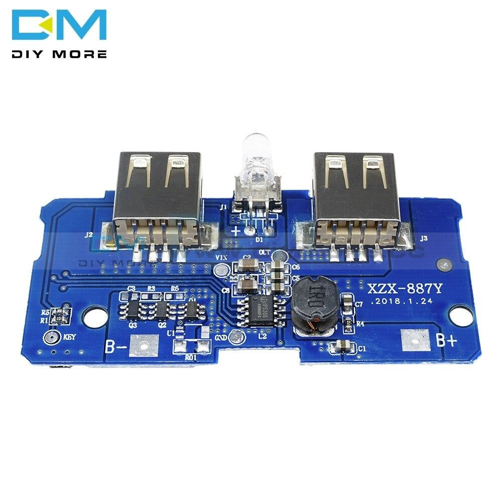 5V 2A Power Bank Charger Module Charging Circuit Board Step Up Boost Supply Dual Usb Output 1A Input