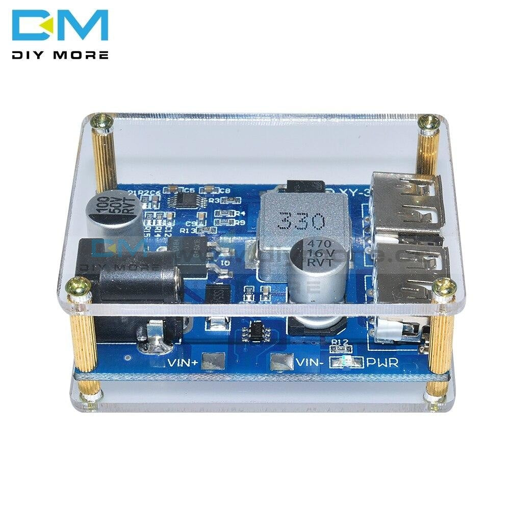 Dc-Dc 24V 12V To 5V Buck Power Supply Module 5A Step Down Converter Diy Electronic Pcb Board Case