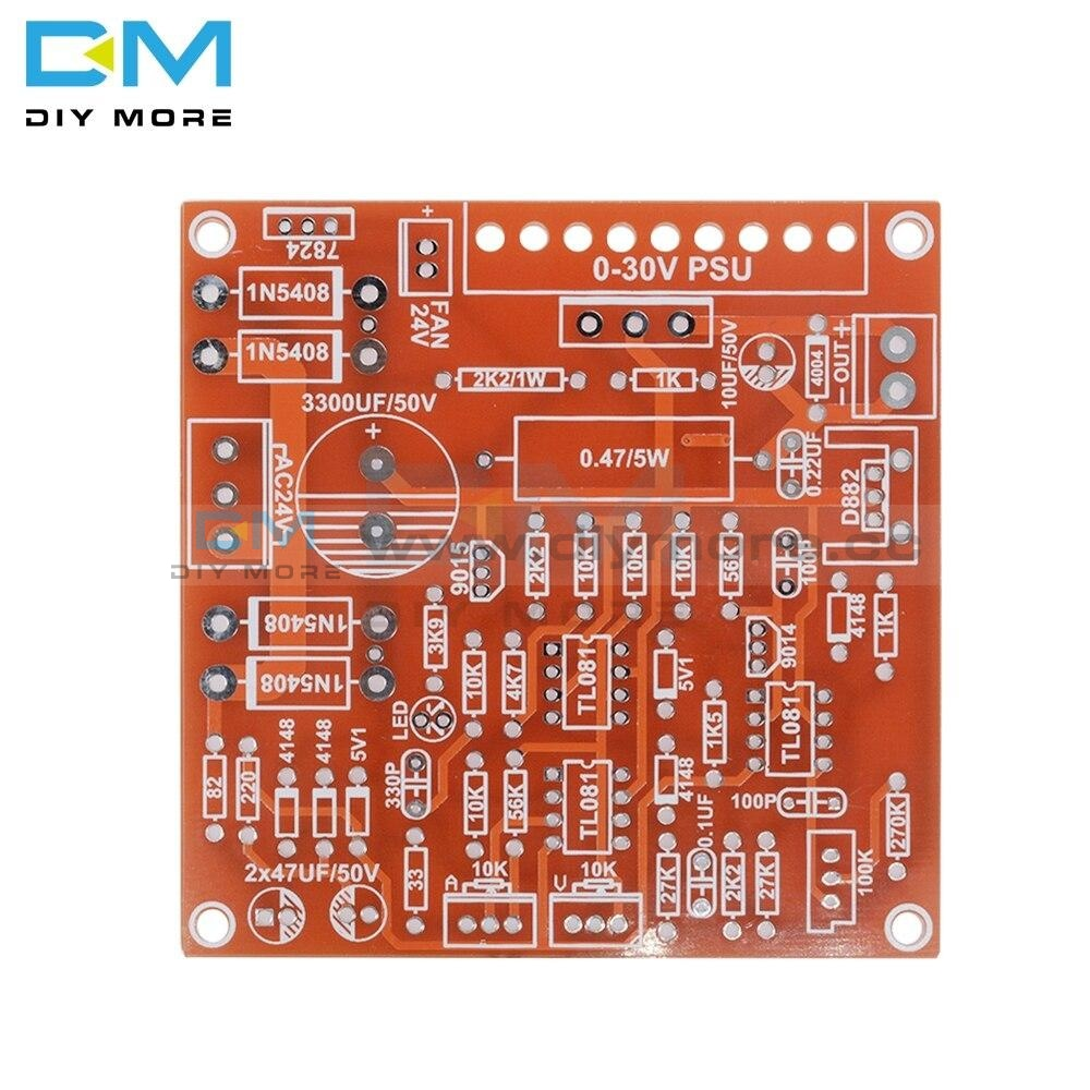 Red 0-30V 2Ma-3A Continuously Adjustable Dc Regulated Power Supply Diy Kits Pcb For Experimental Use