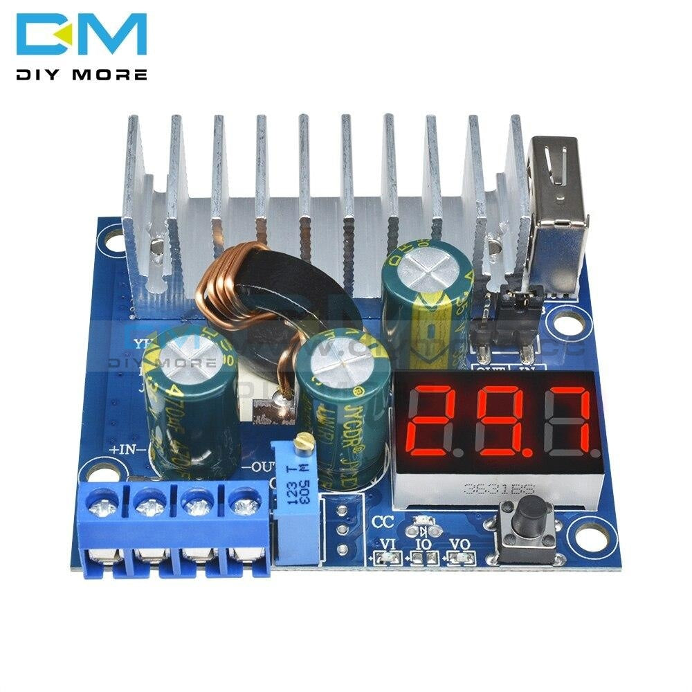 Dc-Dc Converter Adjustable Step Up Module Power Supply Board 3V~35V 6A Usb Voltmeter Non-Isolated