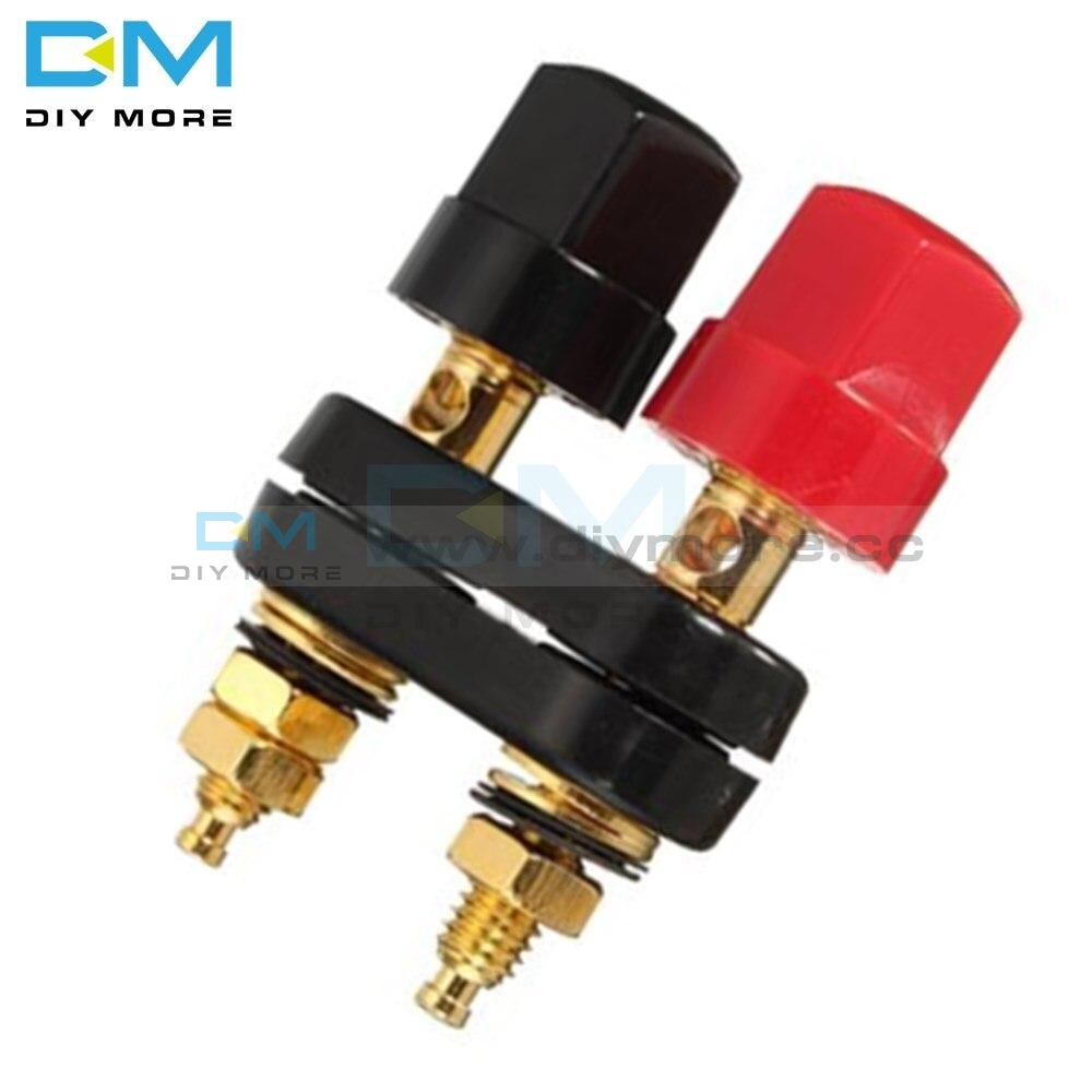 Connecter Banana Plug Gold Plate Red Black Connector Terminal Plugs Binding Post In Wire Connectors