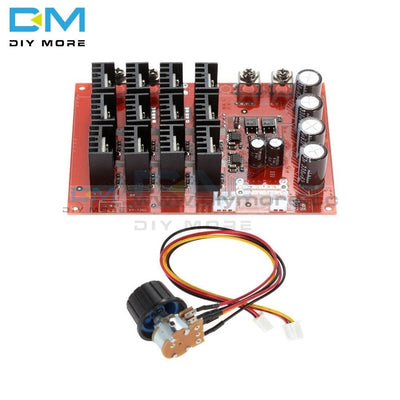 Dc 10-50V 60A Motor Speed Control Controller Module Pwm Hho Rc 3000W Max With Box Case Shell Kit