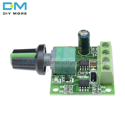 Newest Dc Max Output Current 2A Adjustable Voltage 1.8V 3V 5V 6V 12V Low Motor Speed Controller