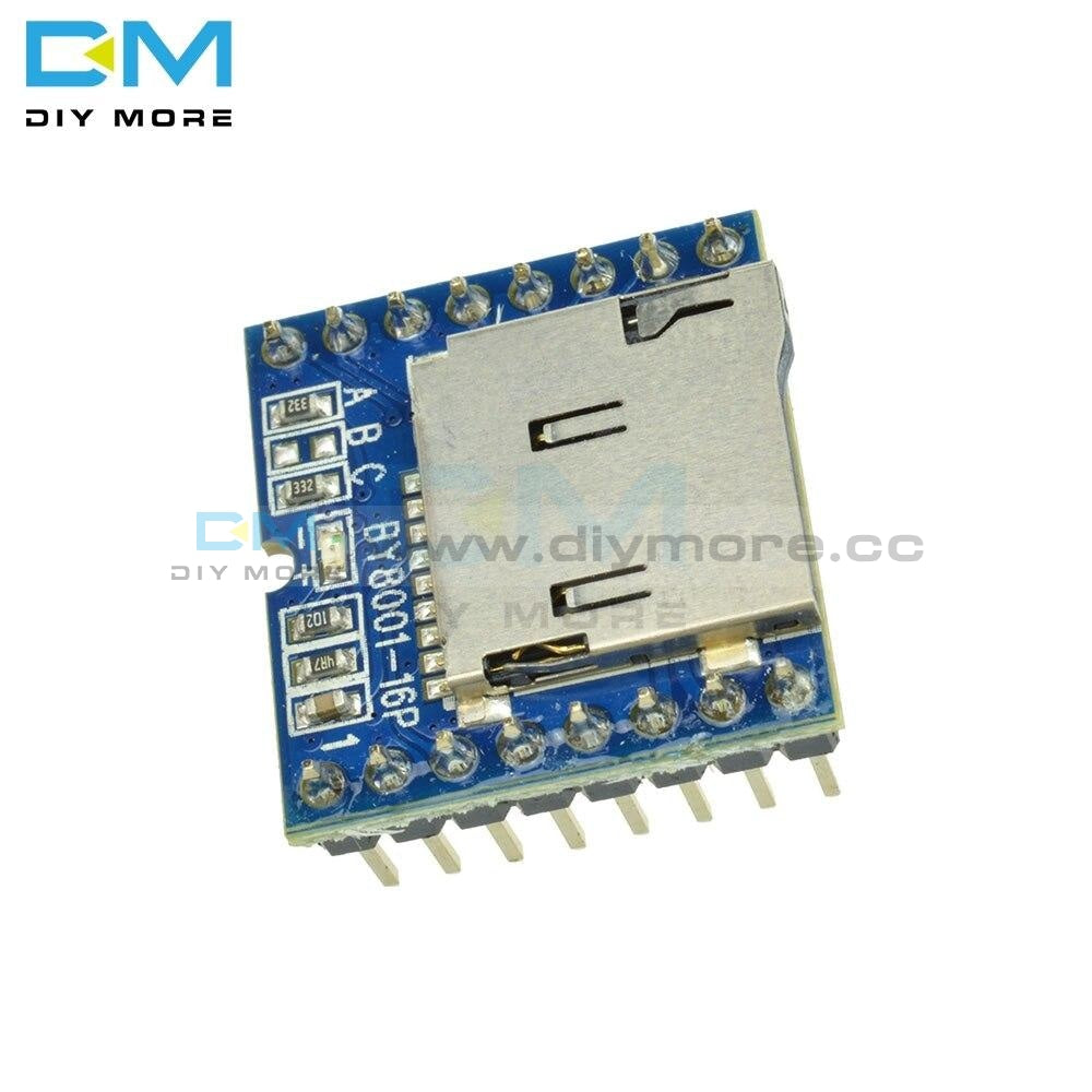 Tf Micro Sd U-Disk By8001-16P Mp3 Player Audio Voice Module Board 3.3V 5V For Arduino For