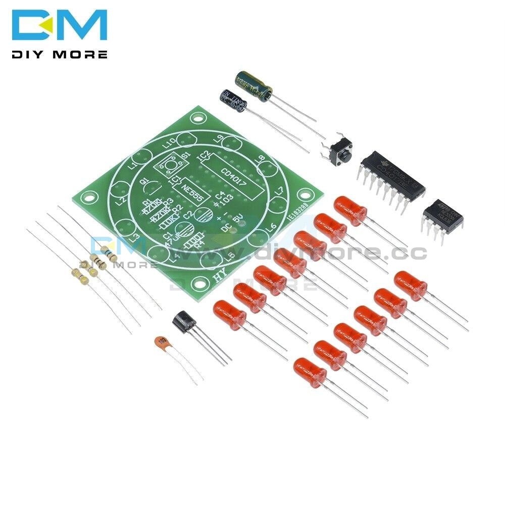 Lucky Rotary Suite Electronic Cd4017 Ne555 Self Diy Led Light Kits Production Parts And Components