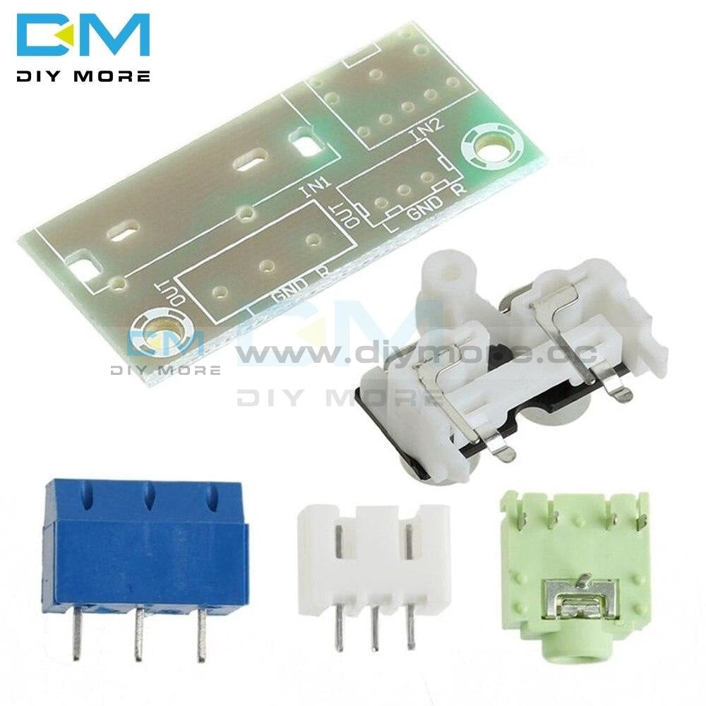 Diy Kit Audio Switch Board Rca 3.5Mm Input Block Module For Amplifier Electronic Kits