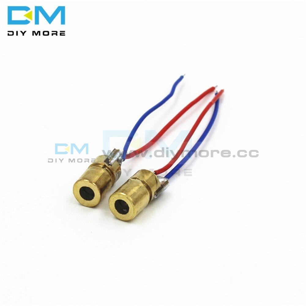 10Pcs 650Nm Wavelength 6Mm Outer Diameter Dc 3V 5Mw Laser Dot Diode Module Red Copper Head Diy Kit