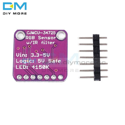 Digital Rgb Color Sensor Ir Filter White Led Tcs34725 Module For Arduino Uno R3 Diy Electronic Pcb