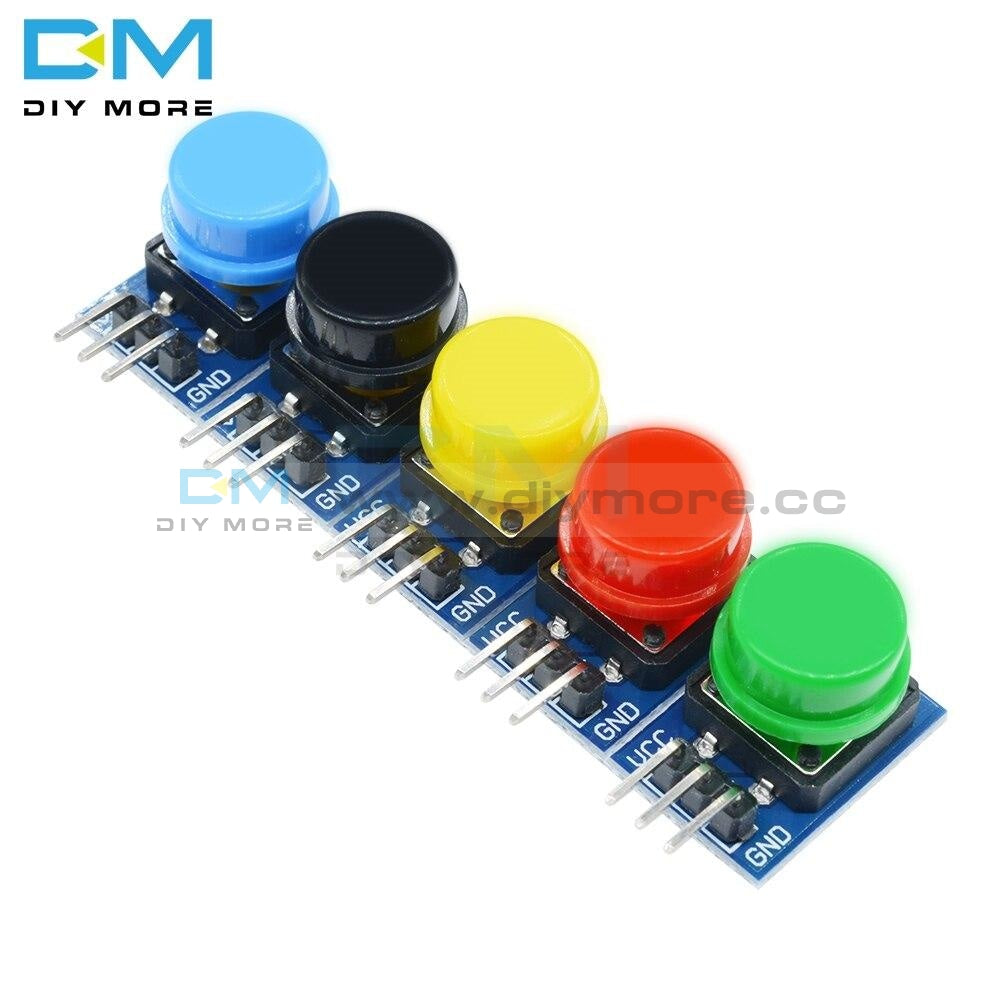 5Pcs 12X12Mm Big Key Module Button Light Touch Switch With Hat High Level Output For Arduino Or