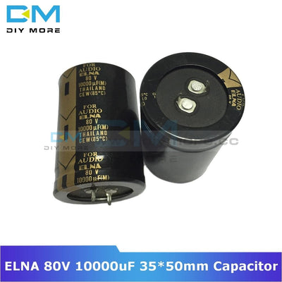 Original Elna Audio Capacitor 80V 10000Uf 35*50Mm Aluminum Electrolytic Low Impedance Capacitance
