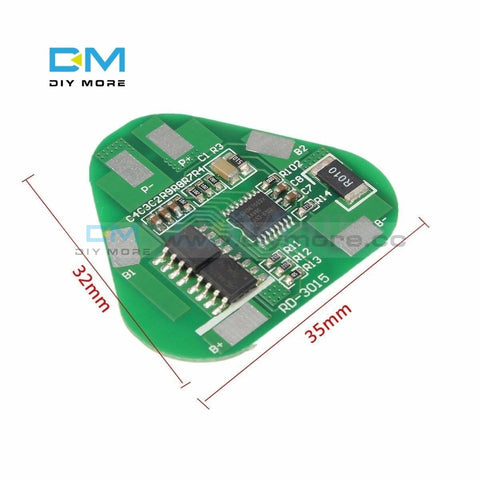 3S 4A Li-Ion Li-Po Cylindrical Prismatic Lithium Polymer Battery 3 Cell Pcb Module Board Short