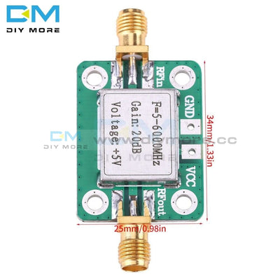 5-6000Mhz Rf 20Db Gain Broadband Signal Power Amplifier Board 5M-6Ghz Dc 5V 85Ma Module