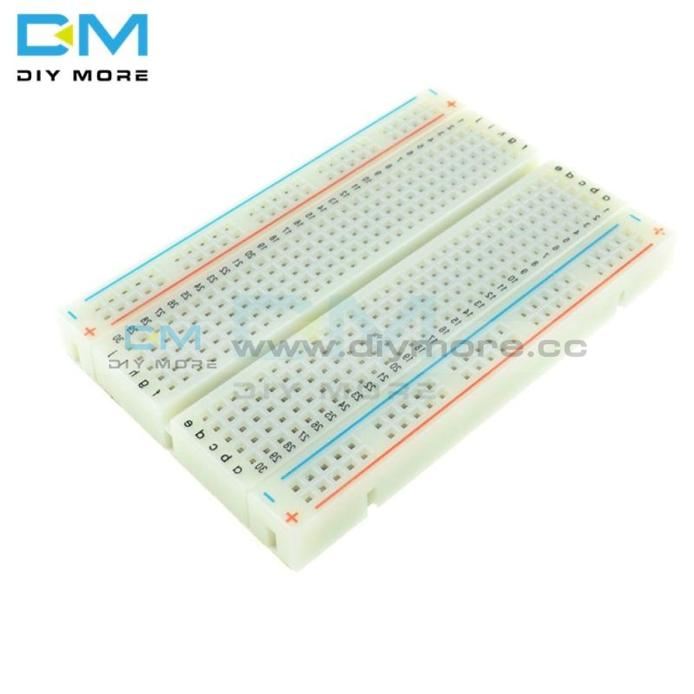 Holes Universal Solderless Pcb Breadboard Mini Test Protoboard Diy Bread Board For Bus Circuit 400