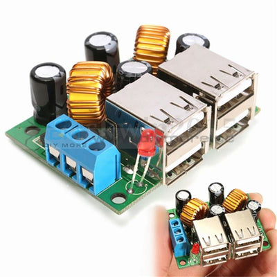 A5268 4 Usb Port Step Down Power Supply Voltage Regulator Converter Module Dc 12V 24V 40V To 5V 5A