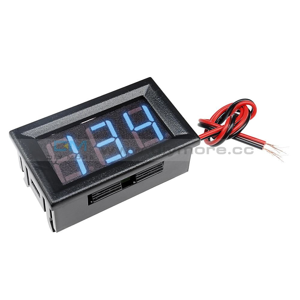0.56 Dc5-30V Voltmeter Led Panel Three Digital Display Volt Voltage Meter Red/green/blue Blue