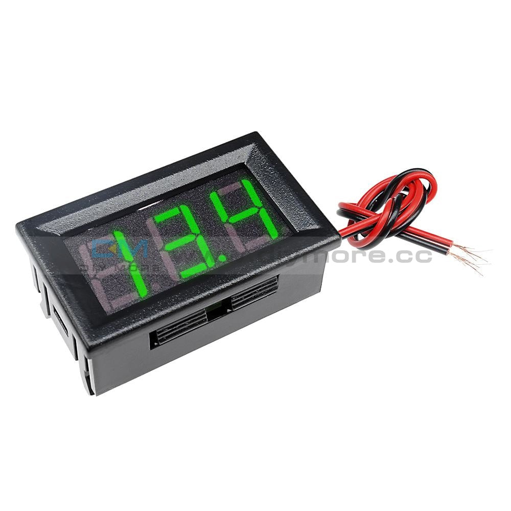 0.56 Dc5-30V Voltmeter Led Panel Three Digital Display Volt Voltage Meter Red/green/blue Green
