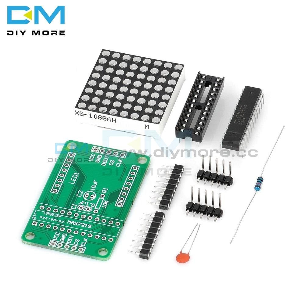 Max7219 7219 8X8 Red Led Dot Matrix Module Mcu Control Controller Display Drive Driver Board Diy Kit
