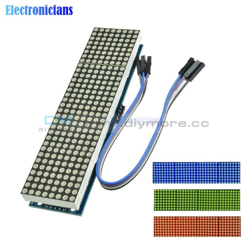 Max7219 Led Microcontroller 4 In 1 Display With 5P Line Dot Matrix Module 5V Operating Voltage For