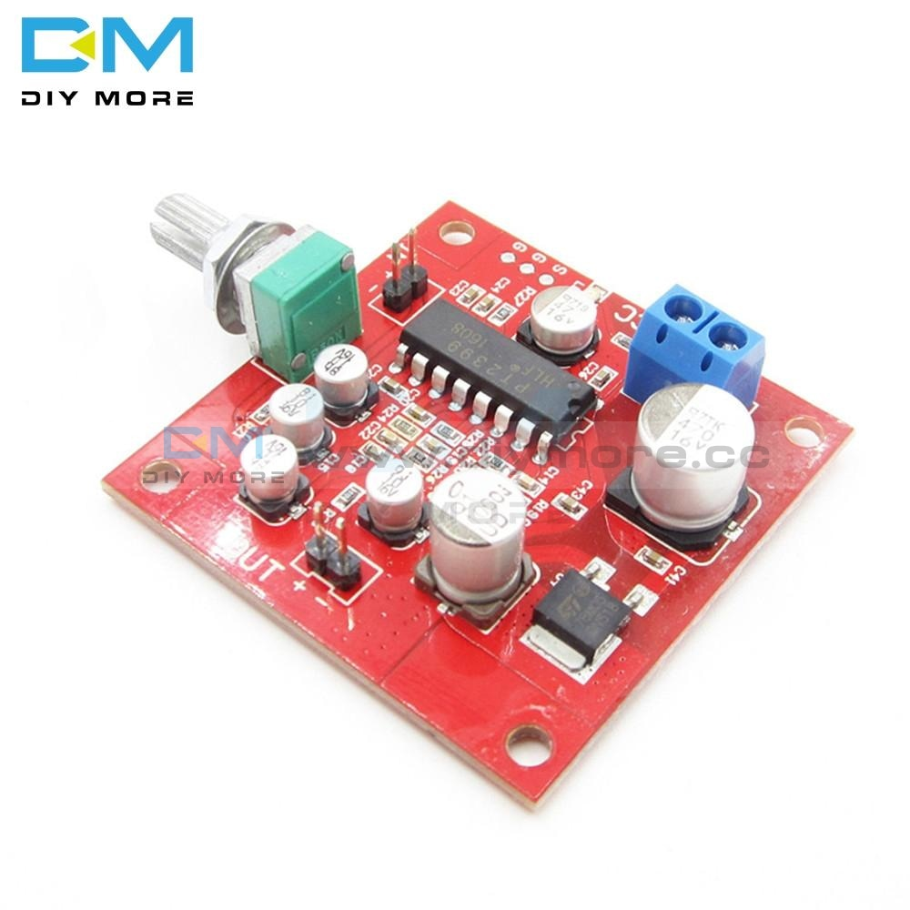 Pt2399 Microphone Reverb Plate Reverberation Board No Preamplifier Dc 6 15V Removable R27 Resistor