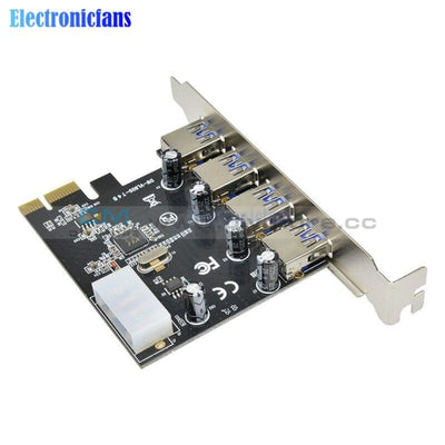 Professional 4 Port Pci E To Usb 3.0 Hub Express Expansion Card Adapter 5 Gbps Speed Controller For
