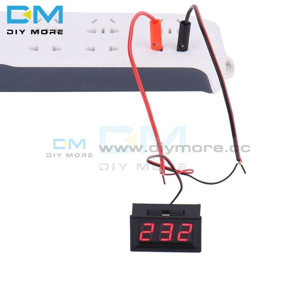 Red Blue Green Digital Led 2 Wire 0.56 Inch Dc Voltmeter Ac 70V 500V Home Use Voltage Display With