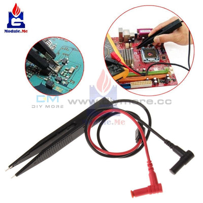 Smd Inductor Test Clip Probe Tweezers 250V For Resistor Multimeter Capacitor Meter Components