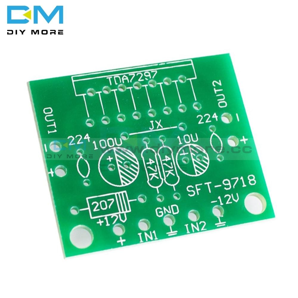 Tda7297 Amplifier Board Module 12V Dc Excellent Grade 2.0 Dual Audio Encoding Electronic Diy Kit