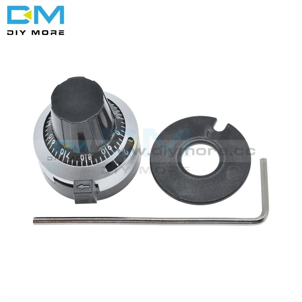 Wxd3 13 3590S Potentiometer Knob Lockable Precision Dial Adjustable Rotary Cap 10 Turns Electronic