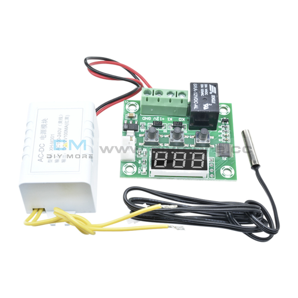 W1209 Ac 110-220V Digital Led Thermostat Temprature Controller With Probe Sensor