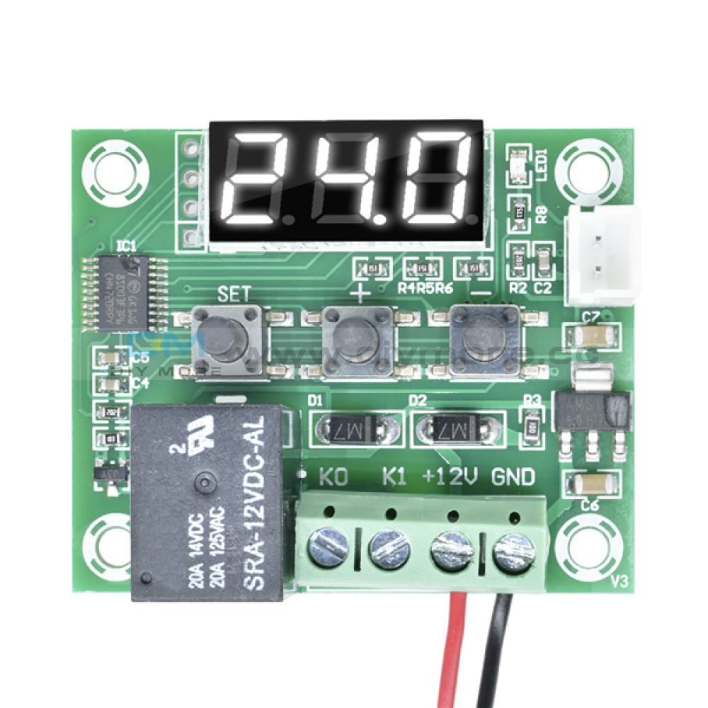 W1209 Ac 110-220V Digital Led Thermostat Temprature Controller With Probe Sensor White