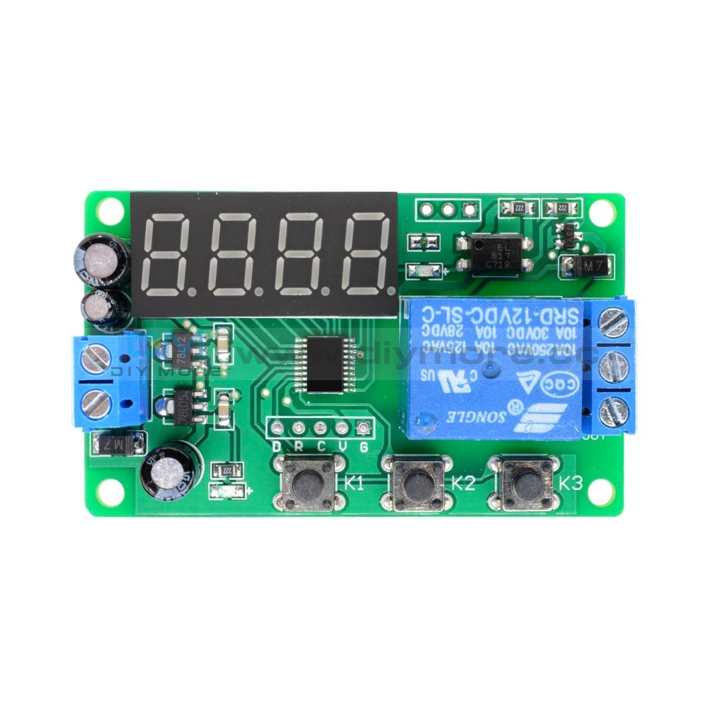 Digital Led Display Automation Delay Relay Switch Module Timer Control Dc12V