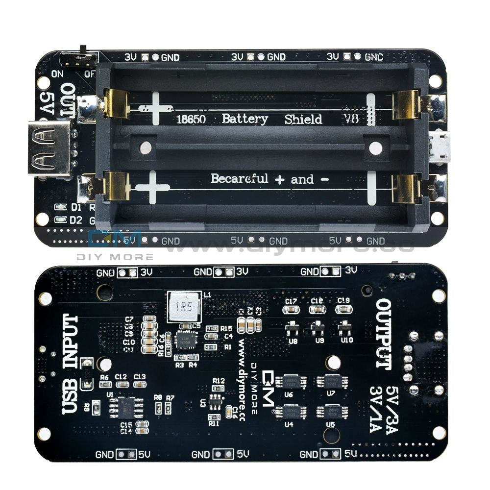 18650 Battery Shield V8 Mobile Power Bank 3V/5V For Arduino Esp32 Esp8266 Wifi Protection Board