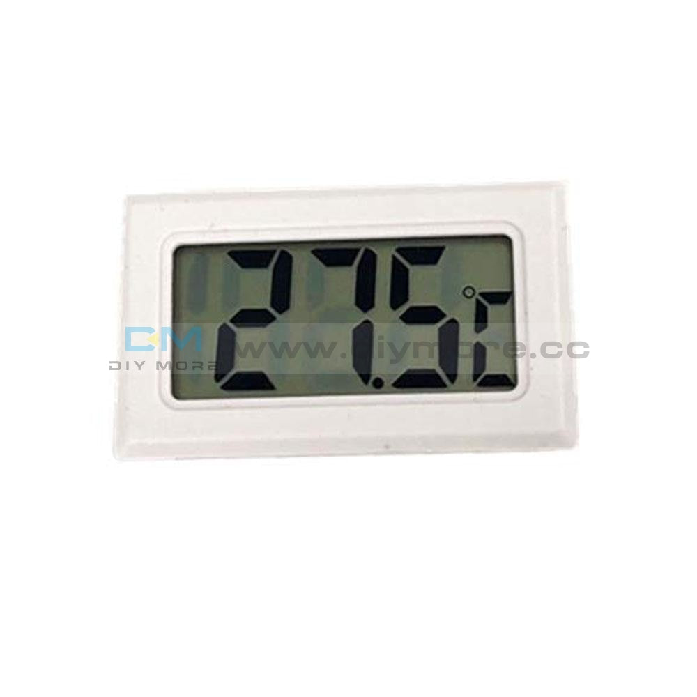 Mini Embedded Led Digital Black Thermometer Temperature Aquarium Heating Cooling White Thermostat