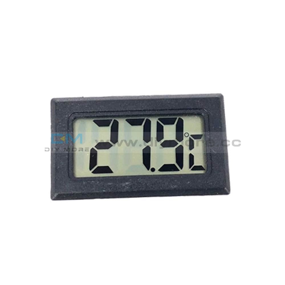 Mini Embedded Led Digital Black Thermometer Temperature Aquarium Heating Cooling Thermostat