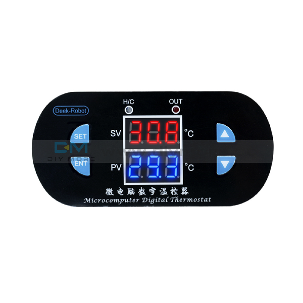 Dk-W1308 Led Digital Temperature Controller 12V 10A Thermostat Regulator Dual Display Heater Cooler