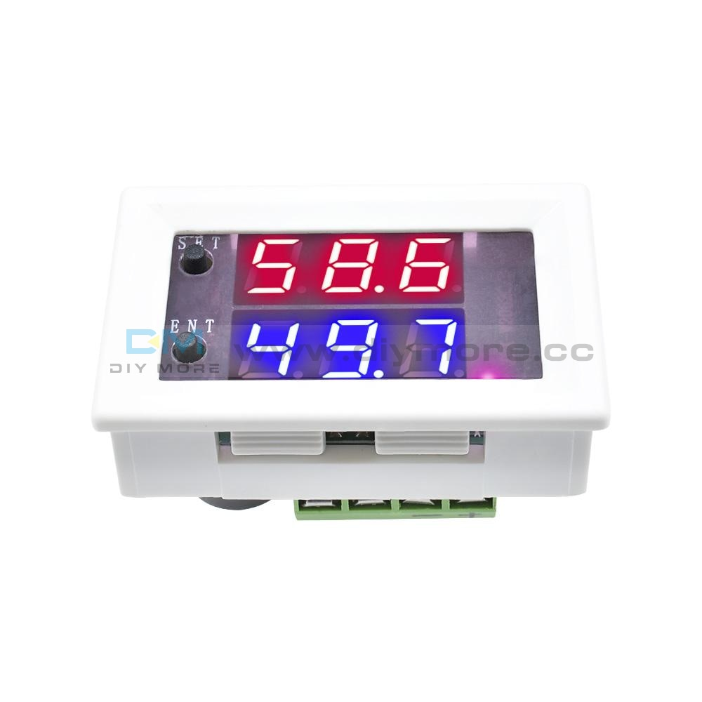 10A Dc 12V Dual Display Intelligent Digital Humidity Controller Red+Blue/ Red+Red Temperature Sensor