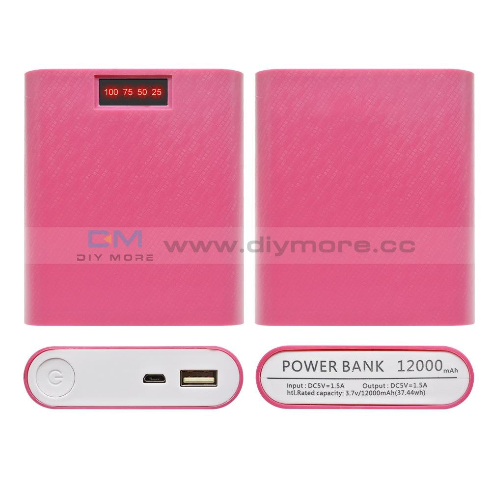 4X18650 Usb Mobile Power Battery Charger Storage Case Diy Box Holder Bank 18650 For Phone Red A