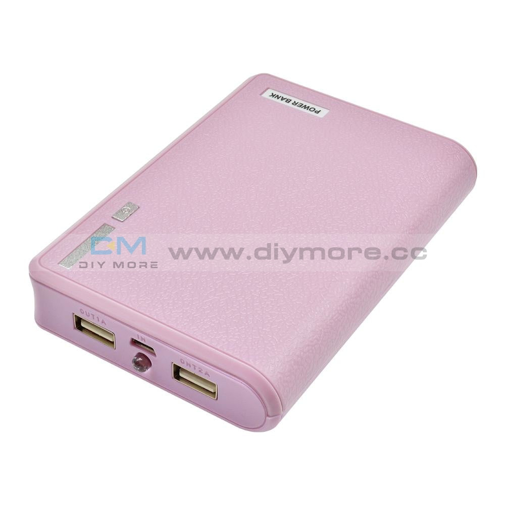 4X18650 Usb Mobile Power Battery Charger Storage Case Diy Box Holder Bank 18650 For Phone Pink