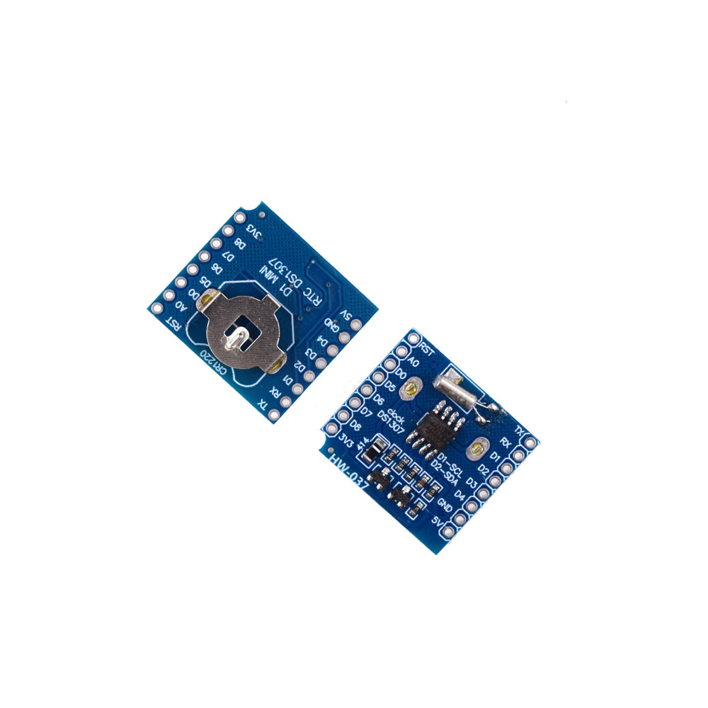 RTC DS1307 clock module with CR1220 button battery holder