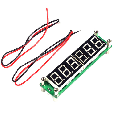 3 Colour DC 8V~15V 6-bit RF signal frequency counter 0.1MHz~65MHz