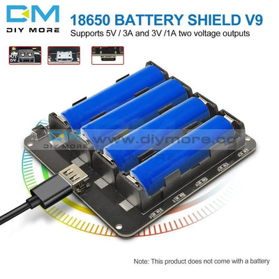 18650 16340 Lithium Battery Shield V9 V8 V3 Mobile Power Expansion Board Module 5V/3A 3V Micro Usb