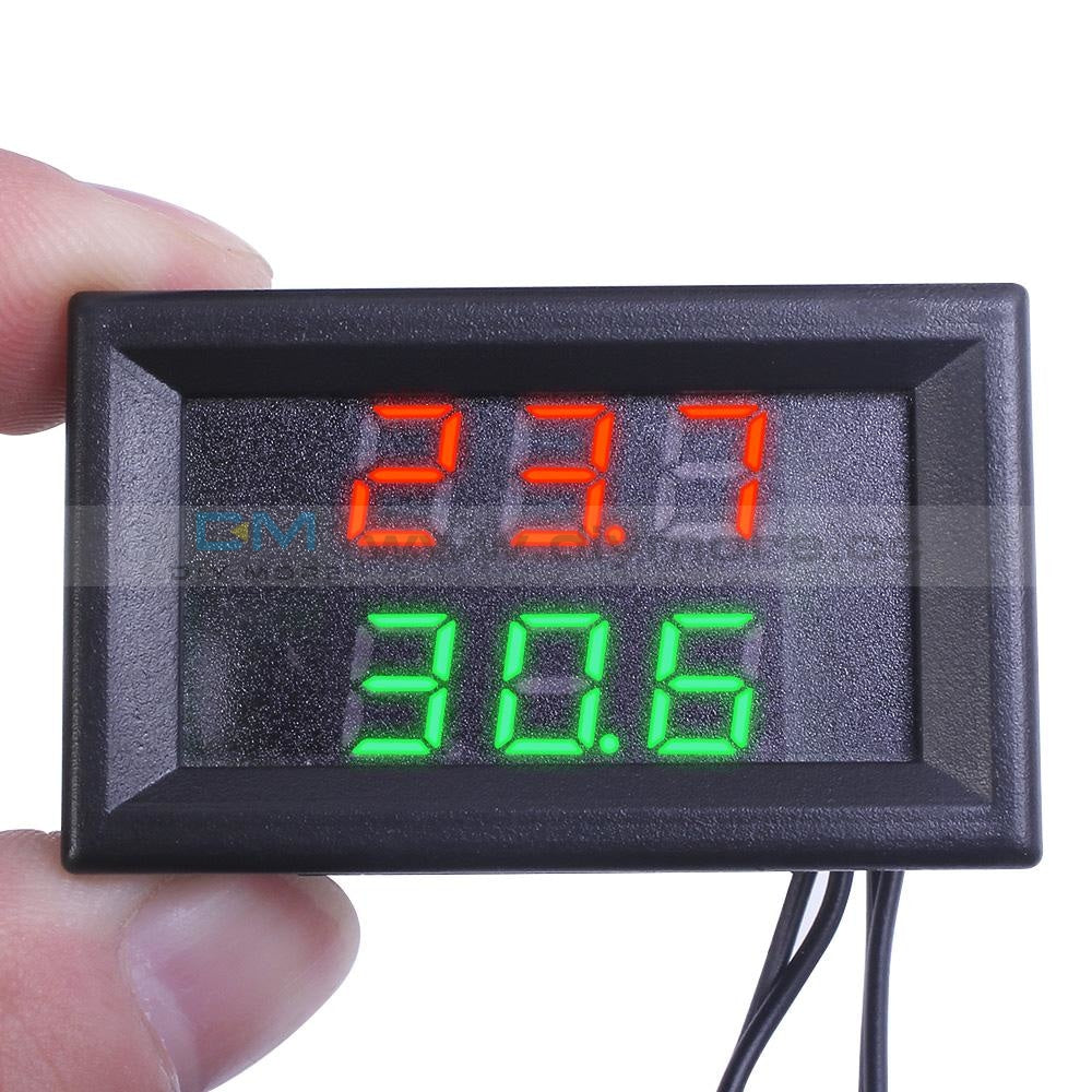 Red+Green Dual Display Digital Thermometer Temperature Led Meter +Ntc Sensor Thermostat