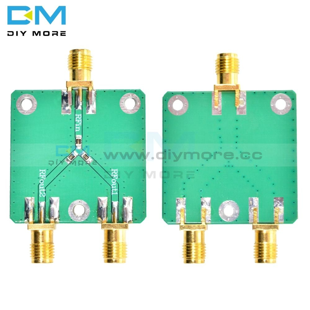 Rf Power Splitter Dc-5Ghz Microwave Resistance Divider 1 To 2 Combiner Sma Radio Frequency 33*33Mm