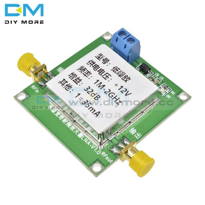 0.01-2000Mhz 2Ghz Gain 32Db Broadband Low Noise Amplifier Lna Rf Module Uhf Vhf Hf 12V Dc With