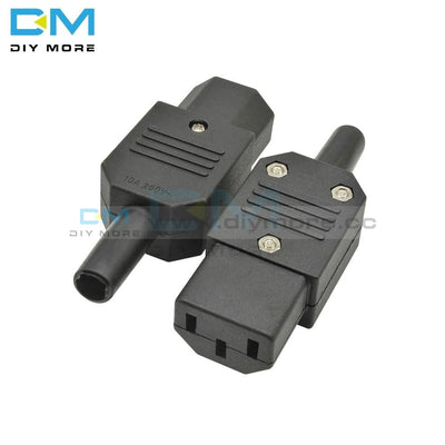 5Pcs Lot Ac-013A Ac 250V 10A Female Power Iron Core Adapter 3 Terminals Iec320 C13 Connector Pin